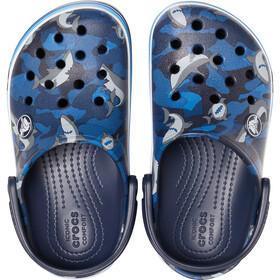 Crocs Crocband Shark Prescool Clogs Kids navy